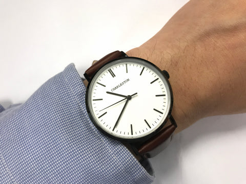 white and tan - charleston watches