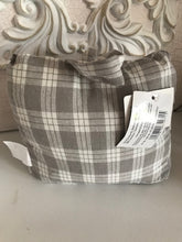 Gingham Grey and Cream Doorstop