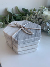 Set of 4 Grey Marble Coasters