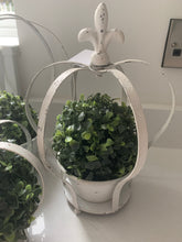 White Rustic Crown Planters  (3 Sizes)