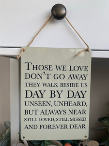Loved ones plaque