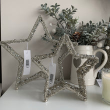 Silver Beaded Mantle Stars