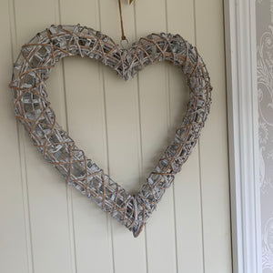 Grey Willow Heart (2 Sizes)
