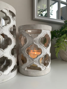 Stone Lattice Candle Holders