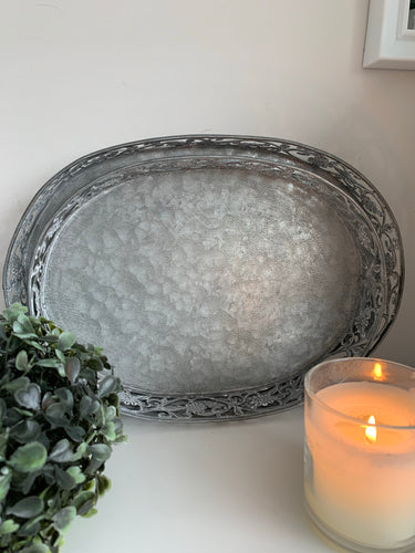 Oval Rustic Trays