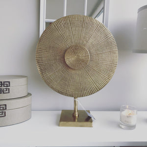 Large Gold Disc Sculpture 47cm
