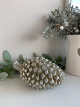 Silver Decorative Pinecone