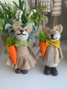 Standing Wool Rabbits