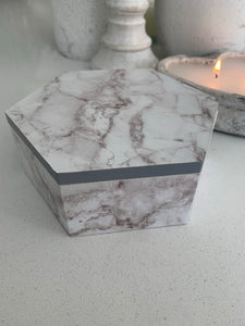 Marbled Effect Storage Box