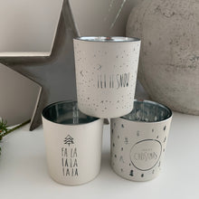 Winter White Candle Pots