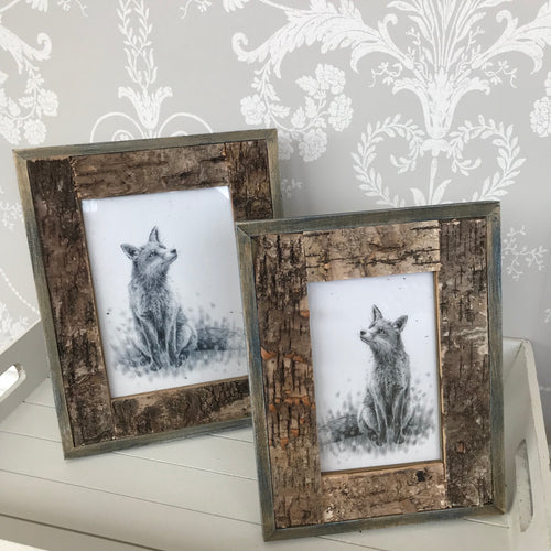 Rustic Bark Photo Frame