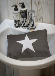 Grey Star Make Up Pouch