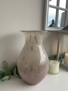 Tall Blush Marble Vincenza Vase