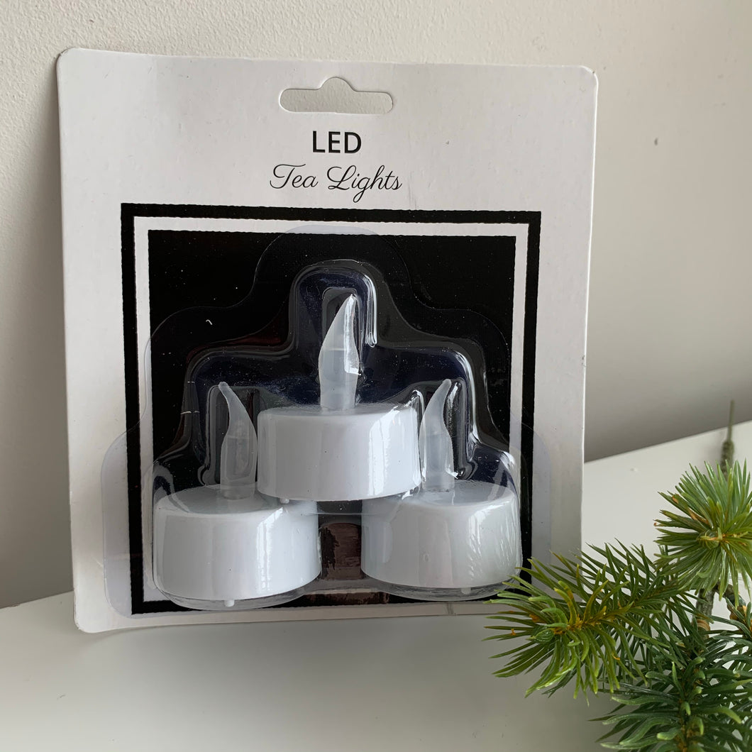 Pack of 3 LED Tealights