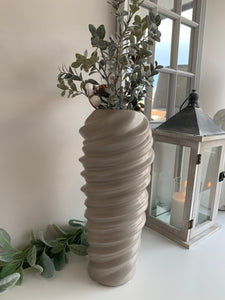Tall Grey Ceramic Vase