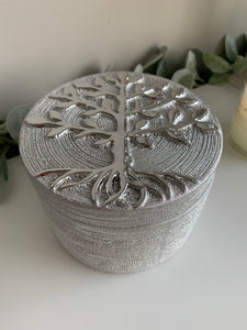 Silver Tree of Life Trinket Pot