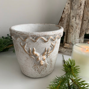 Stag design Stone Plant Pots (2 Sizes)