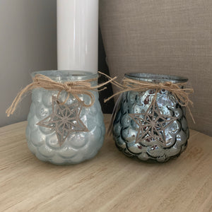 Glass Pinecone candle pots