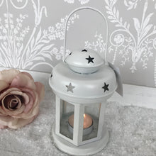 White Lantern with Cut out Stars