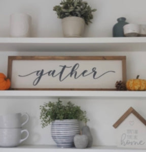 "Large ""Gather"" Wall Plaque"