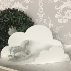 White Wooden Cloud Shelf