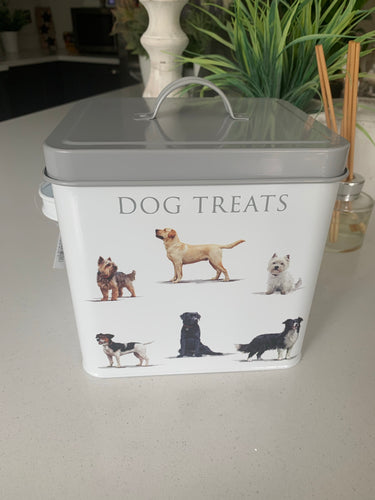 White Metal Dog Treats box