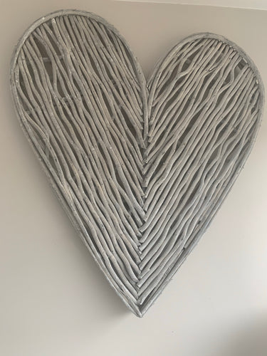 Grey Willow Heart 70cm