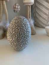 Large Silver Decorative Egg