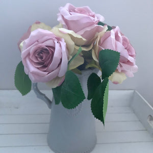 Large Pink Tea Rose Hand Tie