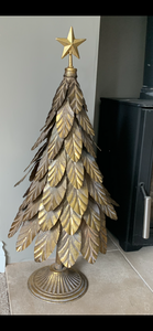 Large Gold metal Tree Ornament 70cm