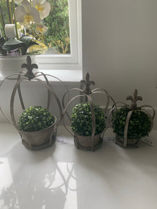 Rustic Crown Planters  (3 Sizes)