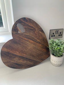 Wooden Heart Shaped Chopping Board