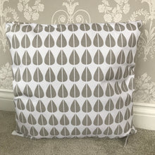 Grey Geometric Leaf Cushion