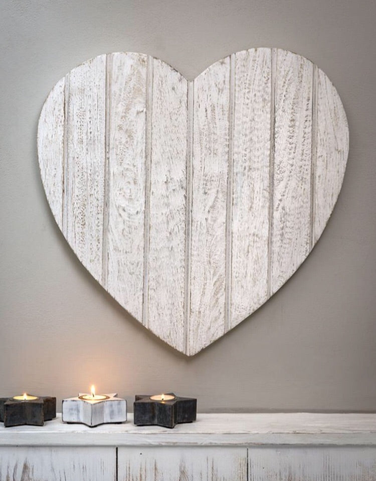 Large White Wall Heart (50cm)