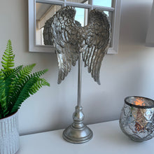 Large Silver Angel Wing Sculpture 45cm