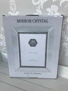 Mirror and diamonte Photo Frame