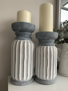 Ribbed Candle Stands