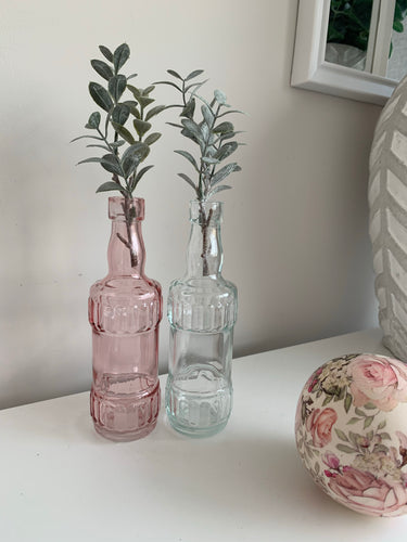 Pair of Glass bottle Vases