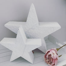 White metal glitter stars (small & large)