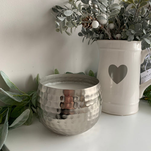 Silver Candle Bowl