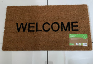 Natural Coir WELCOME outdoor Doormat