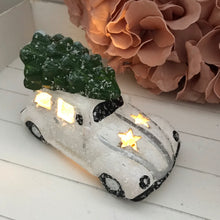 White Ceramic Car with LED lights