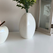 White Porcelain Vase & book bush