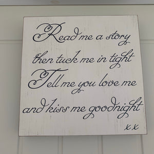 Read me a story wall plaque