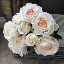 Bunch of artificial Roses (Pink, White or Yellow)