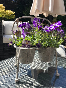 Cute grey outdoor planter