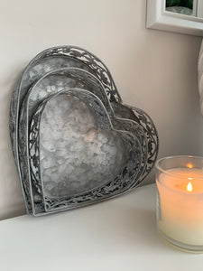 Rustic Heart Trays (3 Sizes)