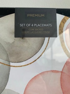 Premium Gilded Spheres Placemats & Coasters