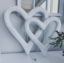 Large White Wall Hearts