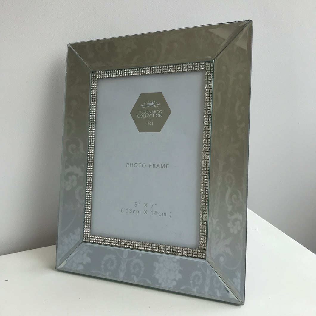 Mirrored photo frame luxe photo frame glitzy photo frame home decor